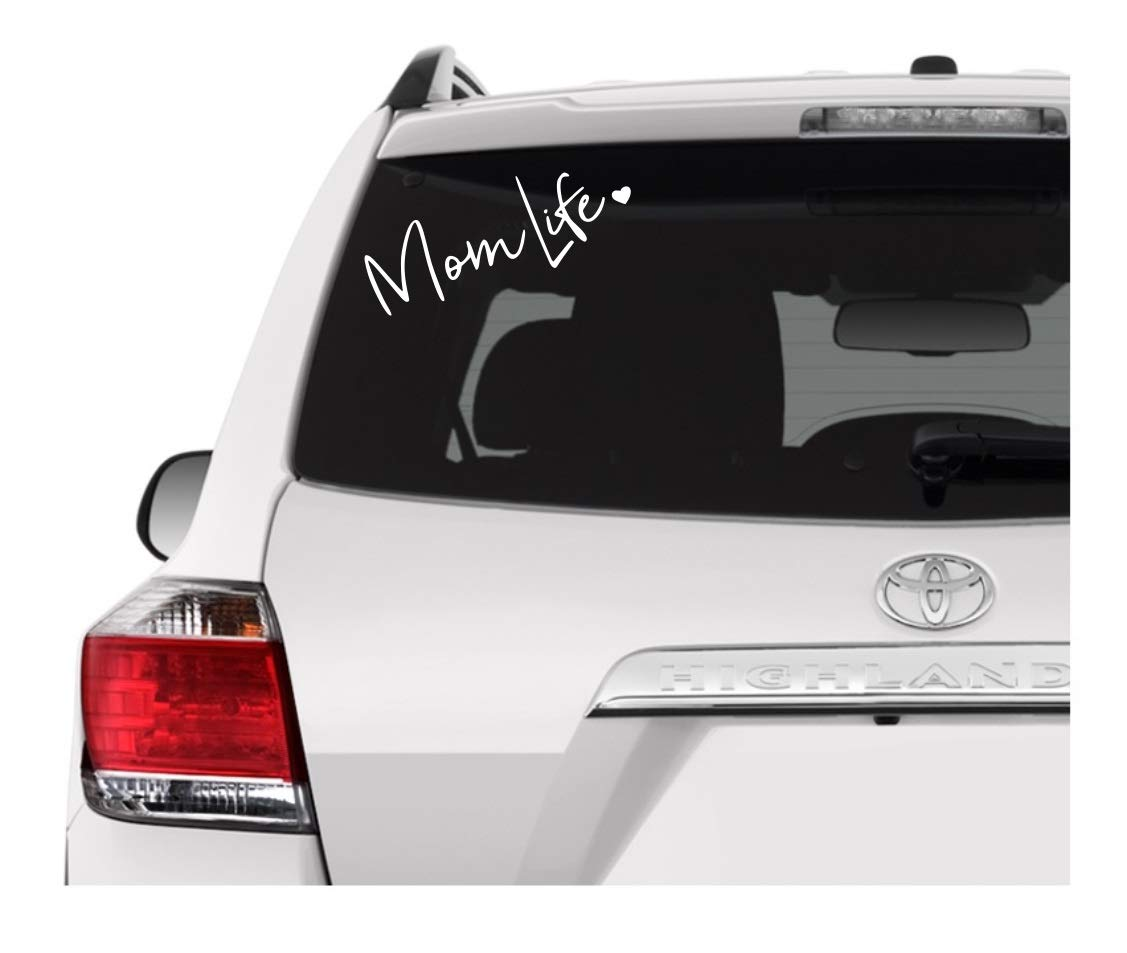 Laptops A/&B Traders Car Decals Mom Life Vinyl Stickers Decals for Cars Wall Decals Black Window