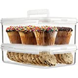 Komax Hikips Food Storage Containers - 2 Piece Cookie, Muffin, Cupcake Set - Premium Tritan Material, BPA Free - Airtight, Leakproof, Snap Locking Lids - Microwave, Freezer & Dishwasher Safe