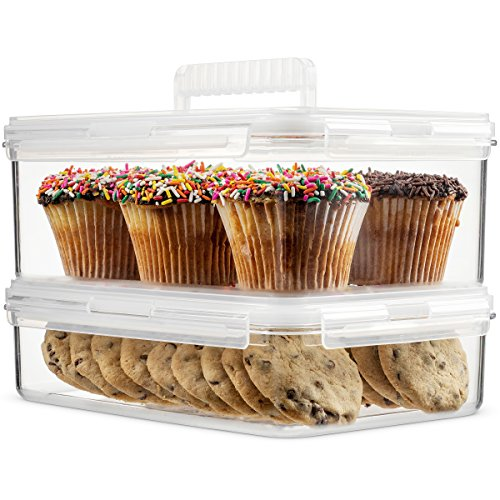Komax Hikips Food Storage Containers - 2 Piece Cookie, Muffin, Cupcake Set