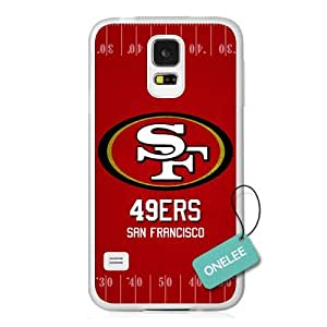 Onelee(TM) - NFL Team Logo Samsung Galaxy S5 case - Custom Personalized San Francisco 49ers Hard Plastic Samsung S5 Cover - T2