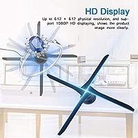 Proyector Holográfico LED 3D, Ventilador De Imagen Giratorio ...