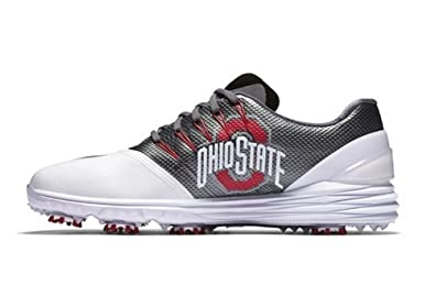 43a53380352cc ... Free Trainer V7 Week Zero Shoes  NIKE Men s Ohio State Buckeyes Lunar  Control 4 College Golf Shoes 838109-104 Size ...