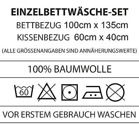 Familando Peppa Pig Peppa Wutz Baby Bettw/äsche Set Gr/ö/ße 100 x 135cm 40 x 60cm 100/% Baumwolle Dream 100/% Baumwolle Cotton