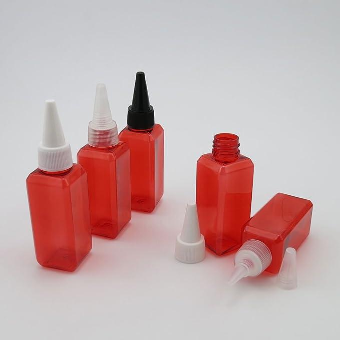 50 x 50 ml rojo vacío botellas de plástico contenedor para DIY ...
