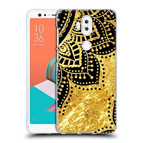 Official Haroulita Petals Black And Gold Soft Gel Case for Asus Zenfone 5 Lite ()