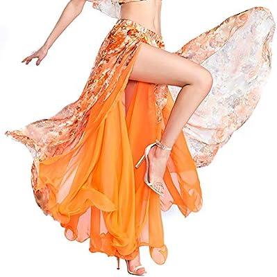 ROYAL SMEELA Falda de Danza del Vientre de Mujer Niñas Naranja ...