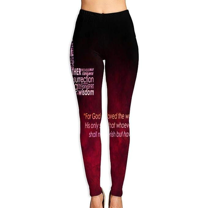 Amazon.com: Pantalones de yoga para mujer con cruz cristiana ...