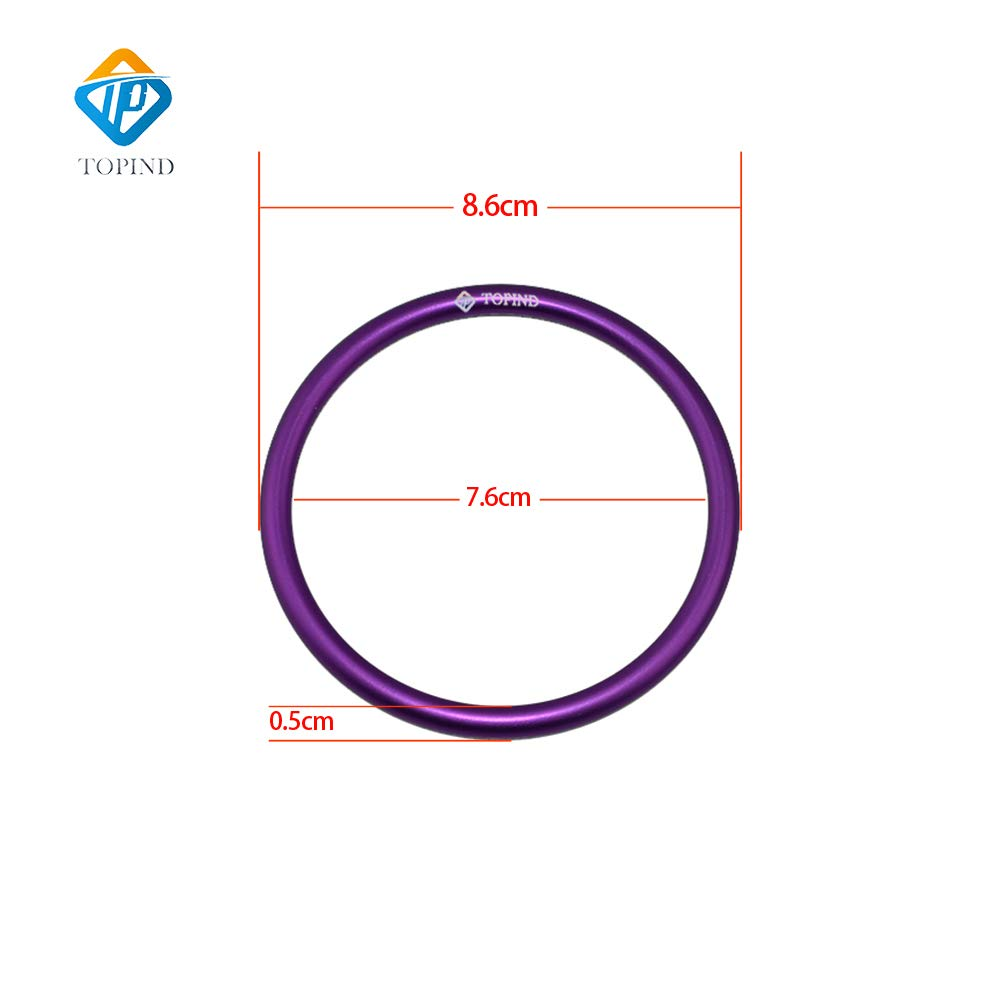 Topind 3 Large Size Aluminium Baby Sling Rings for Baby Carriers /& Slings of 2 pcs Purple