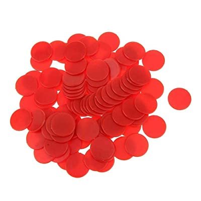 Aeromdale Game Chips Opaque Counter Panel Contadores de juego Contadores de plástico para conteo o marcado - Rojo 100 piezas de regalo: Hogar