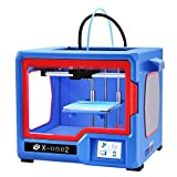 QIDI TECHNOLOGY New Generation 3D Printer:X-one2 (Red-blue version),Metal Frame Structure,Platform Heating