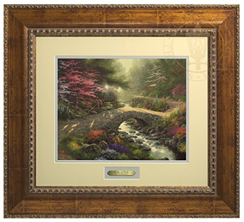 Bridge of Faith - Thomas Kinkade Prestige Home Collection (Gold Frame) by Thomas Kinkade