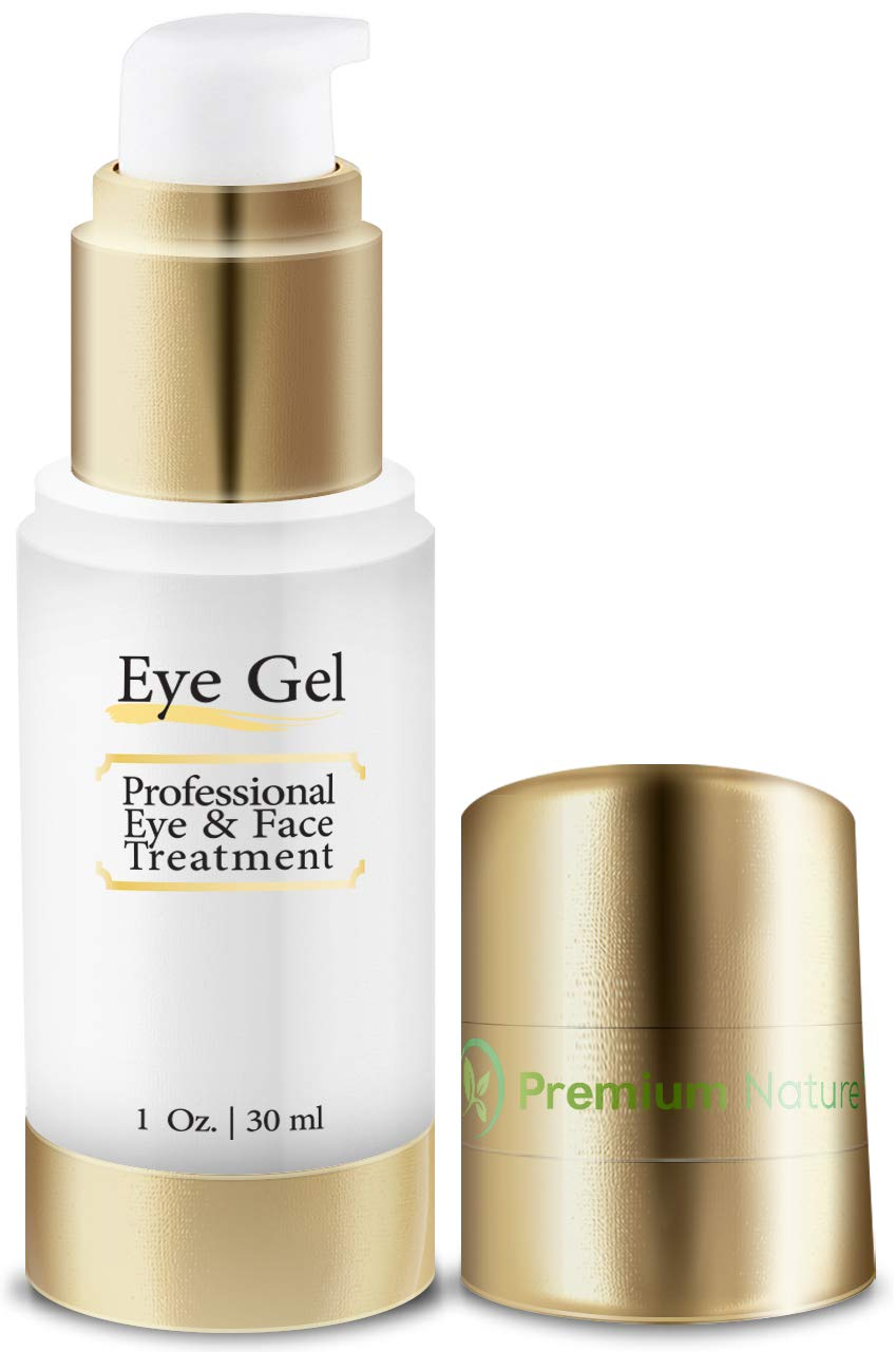 Eye Cream for Wrinkles Repair Gel - 1 oz All Natural Improves Skin Tone Elasticity & Firmness - Removes Dark Circles Puffiness & Fine Lines Premium Nature Eye Gel Cream