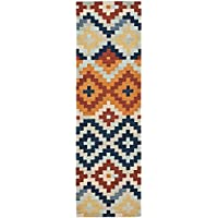 Safavieh Chelsea Collection HK726A Hand-Hooked Multicolored Premium Wool Runner (26 x 6)