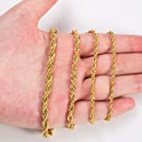 2.5MM 18 Inches Stainless Steel Twist Rope Chain