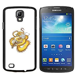 "Be-Star Único Patrón Plástico Duro Fundas Cover Cubre Hard Case Cover Para Samsung i9295 Galaxy S4 Active / i537 (NOT S4) ( Oro amarillo Dragón Serpiente Larga Cola"" )"