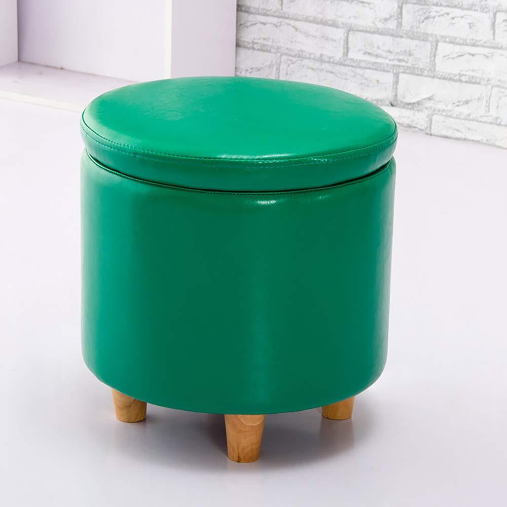 Green Multi-Function Storage Box - Fashion shoes Bench, Storage Stool shoes-White