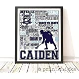 Lacrosse Typography Personalized Print - PrintChicks Boys Sport Art Decor Poster Team Gift