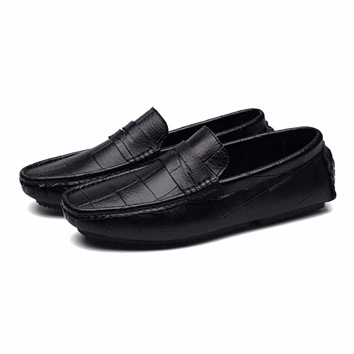 Moonwalker Men's Genuine Leather Slip-on Penny Loafers: Amazon.ca: Shoes &  Handbags
