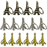 Ceeyali 21 Pcs 5cm Metal Eiffel Tower Craft Art Statue Model for Table Decor,Cake Topper,Gifts,Party,Jewelry Stand Holder,Home Decoration