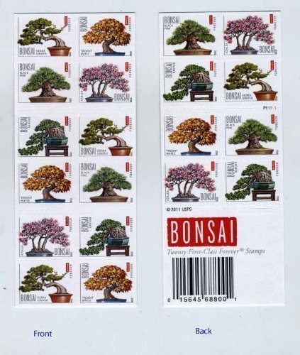 Bonsai Booklet of 20 x Forever us Postage Stamps -