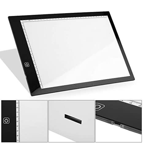 Cozyroom A3/A4 - Dibujo con caja de luz LED ajustable, ultra ...