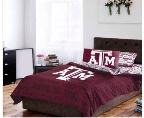 Texas A&M Aggies NCAA Full Comforter & Sheets (5 Piece Bedding)