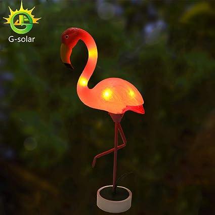Amazon.com : G-Solar metal yard art Battery-operated plastic metals ...