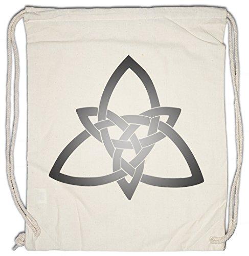 CELTIC KNOT LOGO SIGN II Drawstring Bag Kelten Knoten keltisch Kreuz Cross Runen Thor