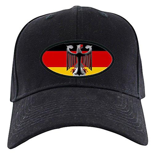 CafePress - German Soccer Flag - Baseball Hat, Novelty Black Cap