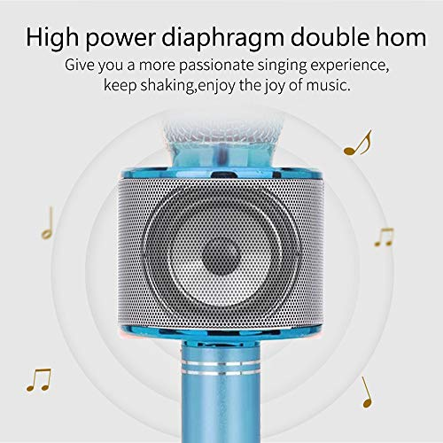 Gift for 6-10 Year Old Girl, Wireless Bluetooth Microphone for Kids Girls Party Toy for 4-7 Year Old Girl Boys Karaoke Microphone Toy Age 6 7 8 Girls Birthday Gift for Girl Blue Mic by Moff (Image #5)