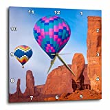 3dRose Hot Air Balloons, Monument Valley, Navajo Tribal Park, Arizona, USA. – Wall Clock, 10 by 10″ (dpp_210287_1) For Sale