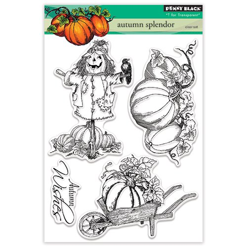 Penny Black 30-372 Autumn Splendor Clear Stamps, 5''X7''