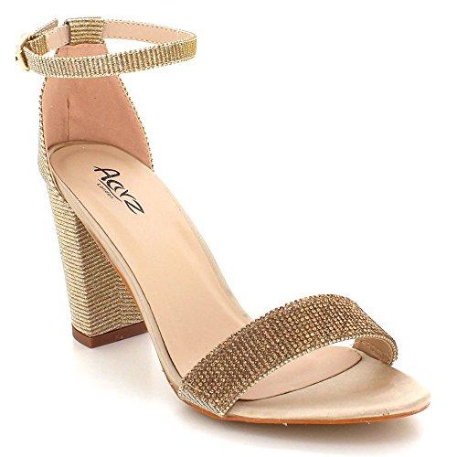 Kengät Crystal Avoin Sandalit Nro Kävelyttää Aarz Iltana Naisten Diamante Lohko Hääjuhliin Morsiamen Naisten Kärki Kultaa London 7Ct7qnxwXO