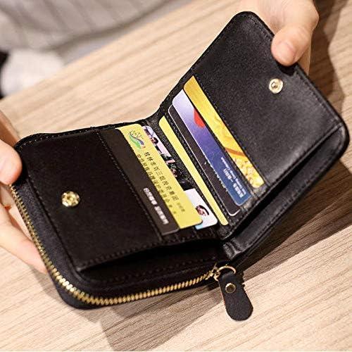 女性キルティングジッパーショートウォレット女の子かわいいミニ財布カードホルダーコインバッグ YZUEYT