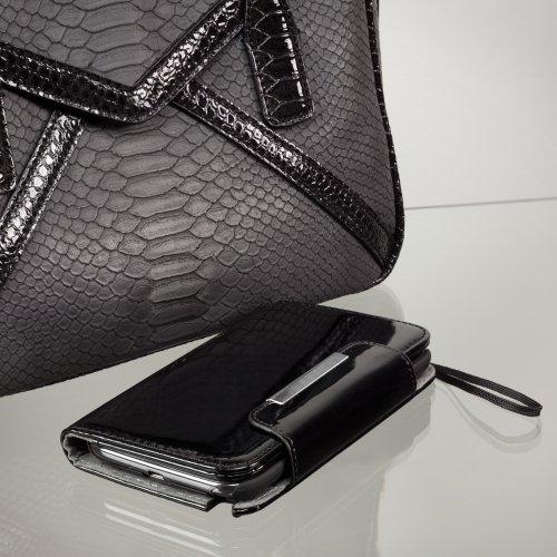 BoxWave Cuir verni Embrayage Samsung Galaxy Note 3Coque–Design Étui en cuir vegan avec slots à carte mémoire et design intérieur de qualité pour Samsung Galaxy Note 3–Couvertures de Samsung Galax