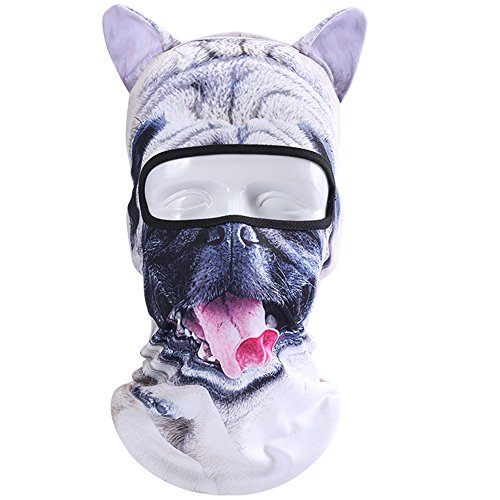 Koolip Cat Balaclava,Dog Balaclava,Halloween Hat,Cute Full Face Hood Mask Animal Ski Mask for Hiking Riding Sports Outddor -