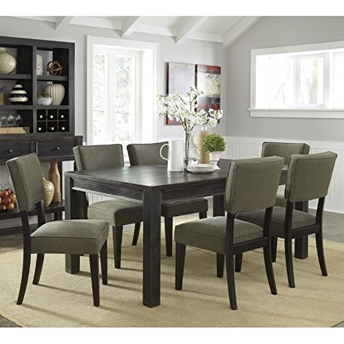 Ashley Gavelston 7 Piece Dining Set in Green