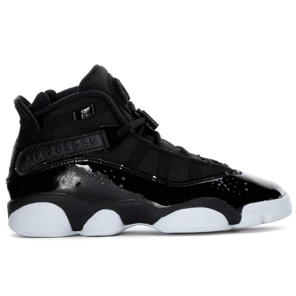 Kids Jordan Air 6 Rings Black//White