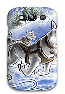 Unique Design Galaxy S3 Durable Tpu Case Cover Dogs Caravan Vector Design Holliday Fun Sledge Kids Jackets Dresses Shoes Vacations Season Coats Fal Nature Winter