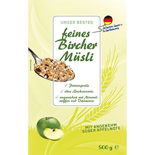Leichter leben feines Bircher Müsli - ohne Zuckerzusatz -