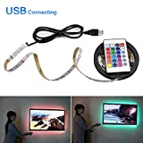 Flexible USB LED Light RGB LED Under Cabinet Kitchen Light for HDTV Desk Decoration Tape 1m-5m Backlight Closet Kitchen Lights