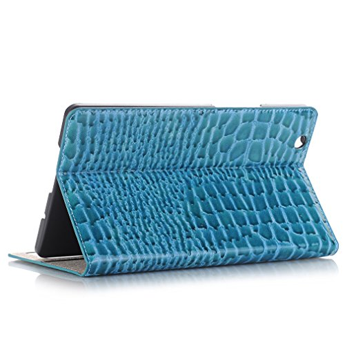 Mediapad of Stent Closure Magnetic Crocodile Function Huawei Case and Leather Sleep LMFULM® Auto Slot Leather Thin Folding Functio Inch Cover Bookstyle M3 Business Card 8 for 4 Ultra PU Wake Blue Grain qwtxCOxR