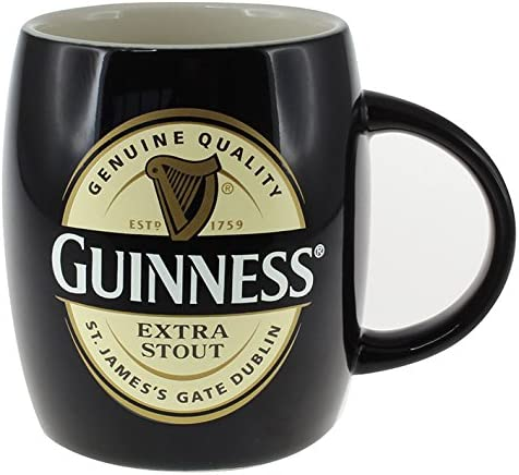 Guinness Ireland Collection Green Ceramic Barrell Mug with St James Gate Label