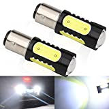 Super Bright White 1157 2057 2357 1016 1034 BAY15D 7.5W COB LED Bulb Brake Stop Parking Light Back Up Reverse Lights or Tail Brake Lights Side Markers Lamp