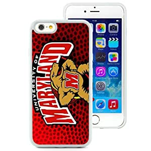 Beautiful And Popular Designed With NCAA Atlantic Coast Conference ACC Footballl Maryland Terrapins 4 Protective Cell Phone Hardshell Cover Case For iPhone 6 4.7 Inch TPU Phone Case White