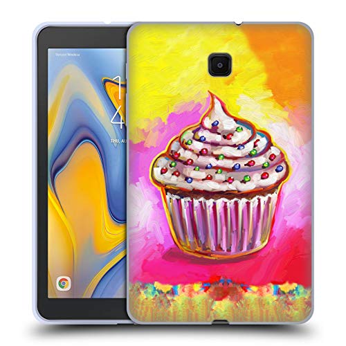 Official Howie Green Cosmic Cupcake Food and Drinks Soft Gel Case Compatible for Galaxy Tab A 8.0 (2018)