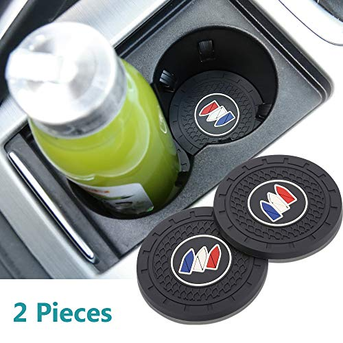 Yuanxi Electronics 2pcs 2.75 inch Car Interior Accessories Anti Slip Cup Mat for Buick All Models
