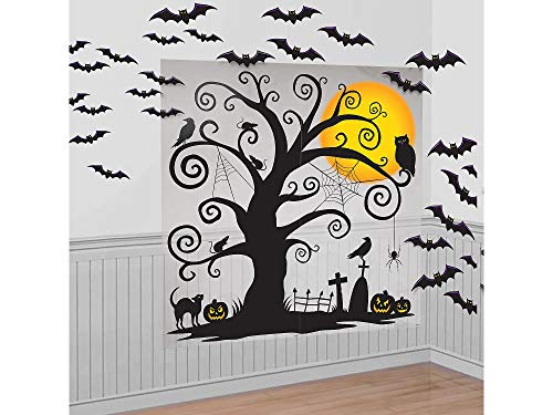 Amscan Halloween Cemetery Scene Setters 65'' x 32'' Paper & Plastic Decorating -