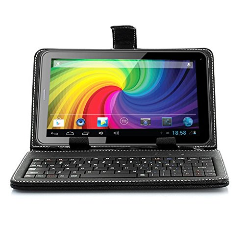 "inDigi® Universal 7.0"" USB PU Leather Case Stand with FULL Keyboard for Android Tablet PC Phablet Smartphone"