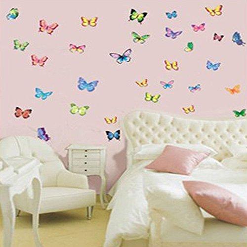 Vibrant Butterflies in Flight - Reusable Instant Decor Self-Adhesive Matte Vinyl Sticker Decal (DESIGN 1, 2)